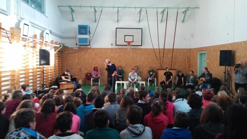 Előadó-művészeti bemutató a Németvölgyi Általános Iskolában 2015 Fotó: Nyári Pál