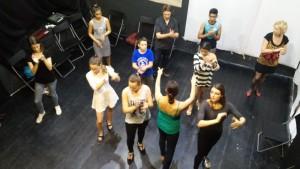 Lippai Andrea flamenco foglalkozása Fotó: Nyári Pál